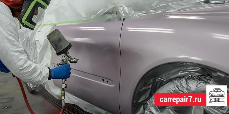 Использовать пульверизатор или баллончик при покраске авто