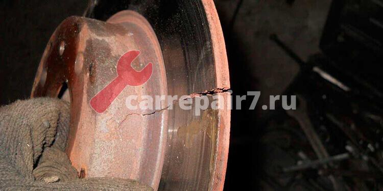 Износ тормозных дисков в авто