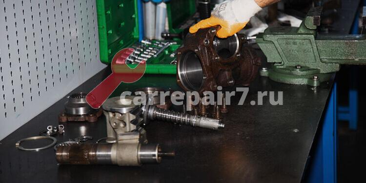 Работы при ремонте рулевого редуктора